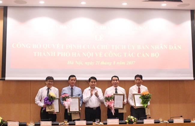 Hà Nội bổ nhiệm lãnh đạo chủ chốt một số Sở