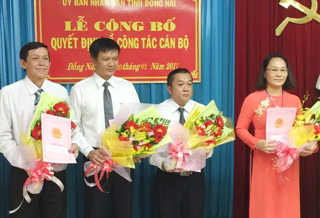 Bổ nhiệm nhân sự mới tỉnh Đồng Nai