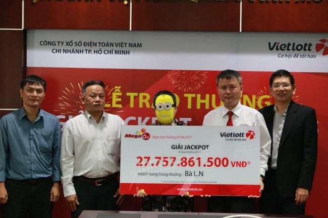 Một người làm kinh doanh tự do tại TP.HCM nhận giải Jackpot gần 28 tỷ đồng