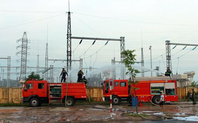 Cháy trạm biến áp 110kV Yên Bình 2, Thái Nguyên