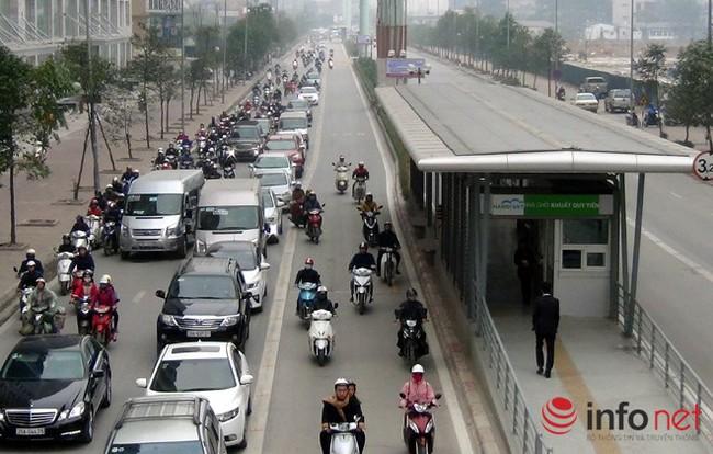 Tại sao CSGT chưa xử lý người chặn đường xe buýt nhanh BRT?