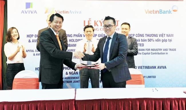 Bảo hiểm Aviva mua lại 50% cổ phần của liên doanh VietinBank Aviva
