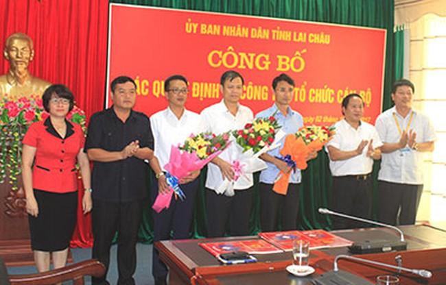 Luân chuyển, bổ nhiệm nhân sự tỉnh Lai Châu