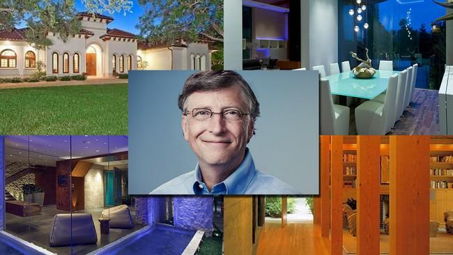 """Những thứ xa hoa tới """"điên rồ"""" bên trong khu biệt thự trăm triệu USD của tỷ phú Bill Gates"""