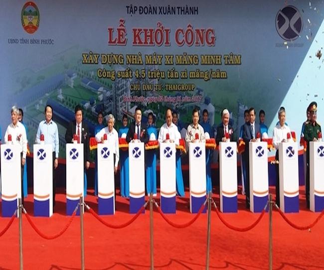Bầu Thuỵ đầu tư Dự án Nhà máy Xi măng tại Bình Phước có tổng mức đầu tư 12.000 tỷ đồng