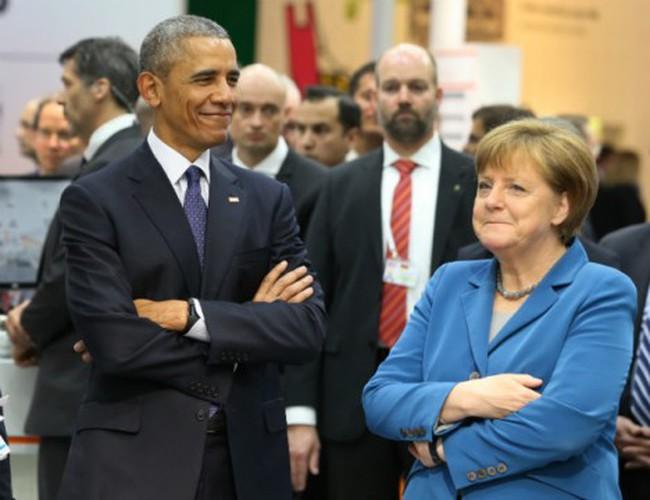 Thủ tướng Đức tiếp ông Obama trước khi gặp Tổng thống Trump trong lần đầu tới châu Âu