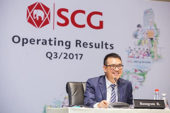 9 tháng đầu năm 2017, tập đoàn SCG đạt hơn 28.300 tỷ đồng lợi nhuận