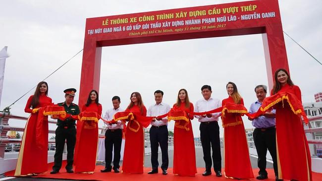 Sài Gòn: Chính thức thông xe cầu vượt 400 tỷ, chấm dứt ùn tắc giao thông