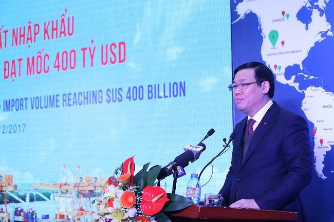 Năm 2017: Kim ngạch xuất nhập khẩu đạt hơn 400 tỉ USD