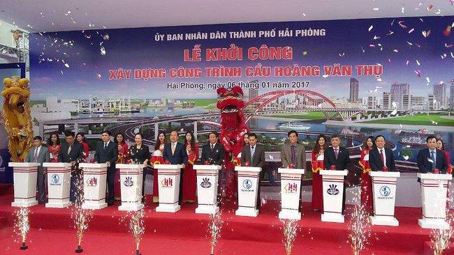 Hải Phòng khởi công xây dựng cầu Hoàng Văn Thụ 2600 tỷ qua sông Cấm