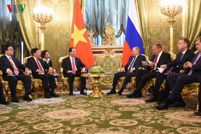 Hình ảnh hoạt động của Chủ tịch nước Trần Đại Quang tại Liên bang Nga