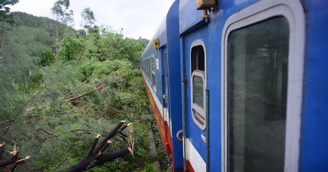 Nhiều chuyến tàu bị ảnh hưởng, phải dừng chuyến khi cơn bão số 2 đi qua