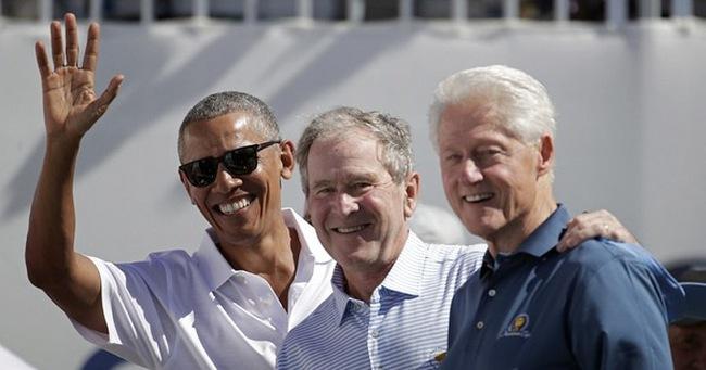 3 vị cựu Tổng thống Mỹ hội ngộ trong giải golf Presidents Cup, còn Tổng thống Donald Trump đang ở đâu?