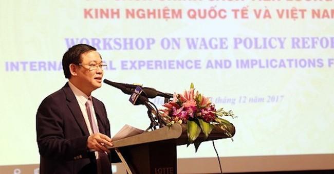 Phó thủ tướng Vương Đình Huệ: Phải có quy định về mức lương tối thiểu