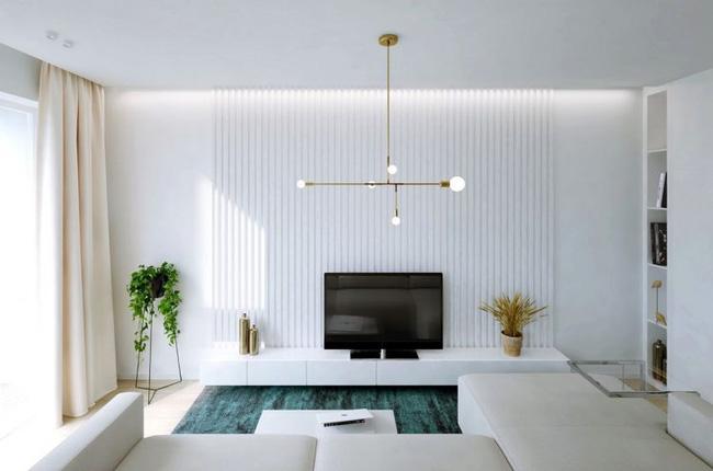 Thiết kế công năng tiện dụng, nội thất sang chảnh căn hộ 2 phòng ngủ cho gia đình trẻ