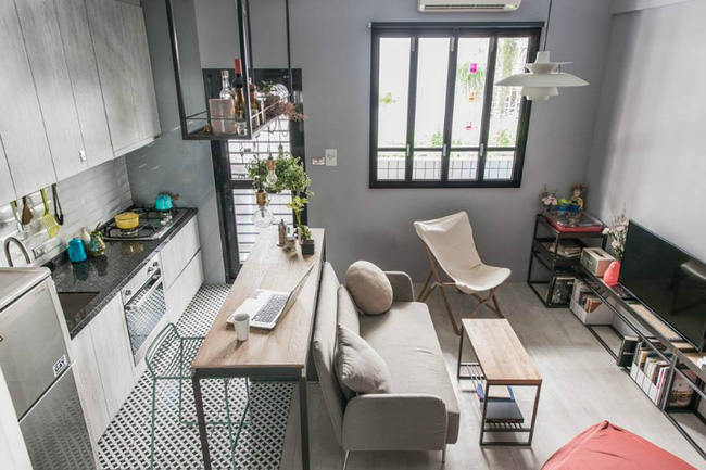 Thiết kế nội thất tuyệt đẹp cho căn hộ diện tích chỉ 30m2