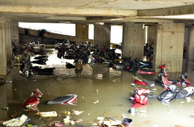 TP. HCM yêu cầu chủ đầu tư trang bị máy bơm chống ngập tầng hầm chung cư