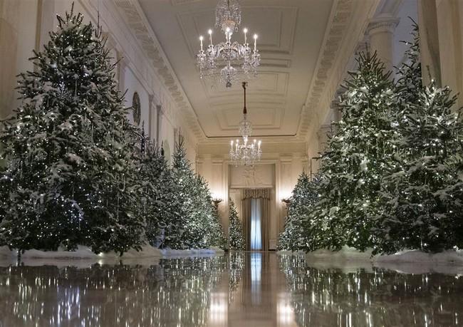 Nhà Trắng lộng lẫy đón Giáng sinh đầu tiên dưới thời Tổng thống Trump