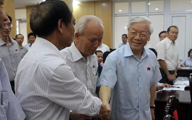 Sáng nay, Tổng Bí thư Nguyễn Phú Trọng tiếp xúc cử tri Hà Nội