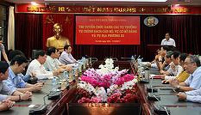 Ban Tổ chức Trung ương tiếp tục thi tuyển lãnh đạo