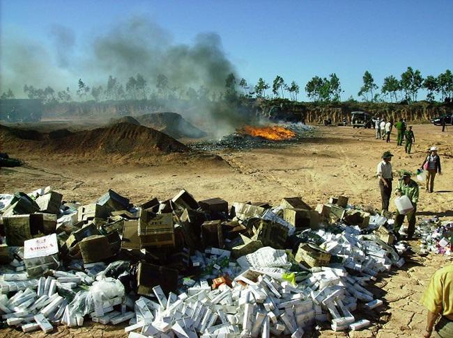 Đề nghị tiếp tục cho tiêu hủy thuốc lá nhập lậu bị tịch thu