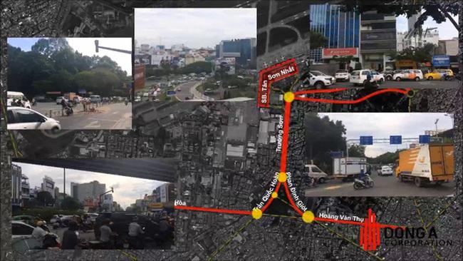 """Đề xuất 2.600 tỷ làm đường trên cao """"giải vây"""" sân bay Tân Sơn Nhất"""