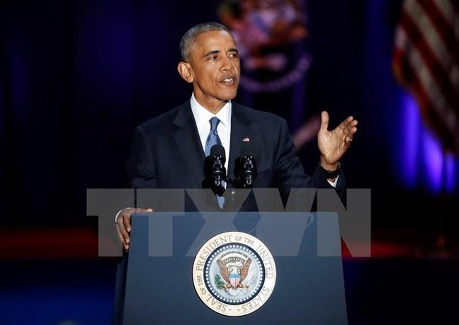 Tổng thống Mỹ Barack Obama có buổi họp báo cuối cùng ngày 18/1