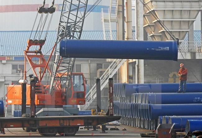Sản lượng thép thô của Trung Quốc tăng trong 8 tháng năm 2017