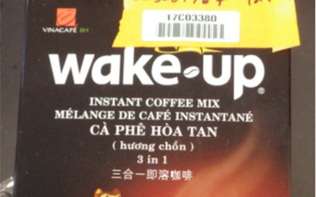 """Mỹ thu hồi khẩn cấp cà phê hòa tan Wake-up của Vinacafé vì """"chứa chất gây dị ứng từ sữa"""""""