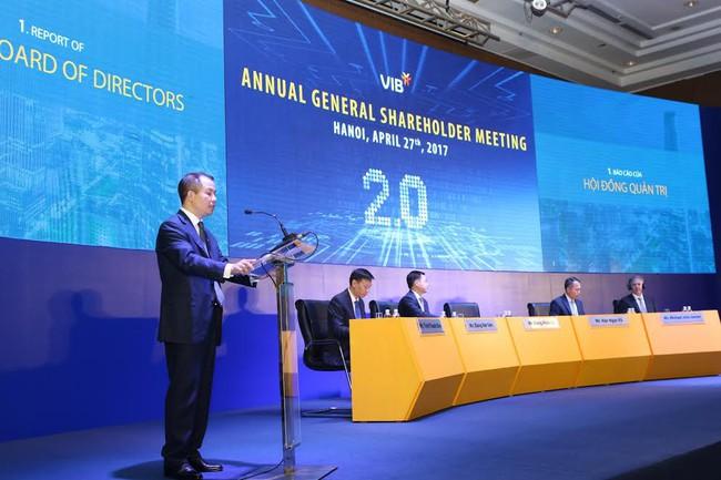 ĐHCĐ VIB: Chia cổ tức và cổ phiếu thưởng tỷ lệ hơn 44%, năm 2017 vẫn tiếp tục sàn UPCoM