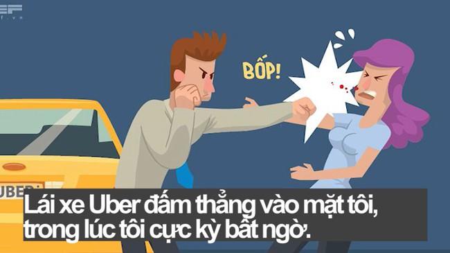 """Uber sẽ mang """"thương hiệu"""" gì sau khi không xin lỗi vì tài xế đấm sưng mồm nữ hành khách?"""