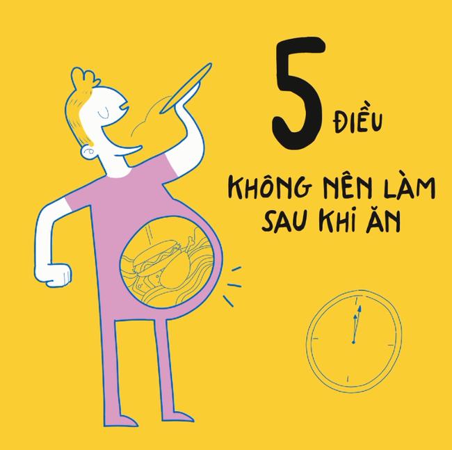5 điều không nên làm sau khi ăn