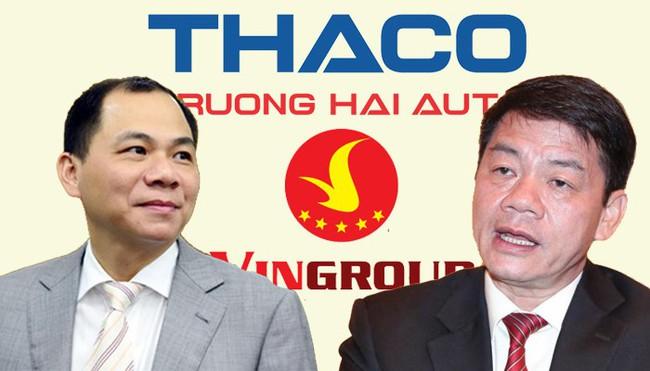 """Cuộc """"chạy đua"""" ly kỳ giữa Vingroup và Thaco để trở thành doanh nghiệp tư nhân lớn nhất Việt Nam"""