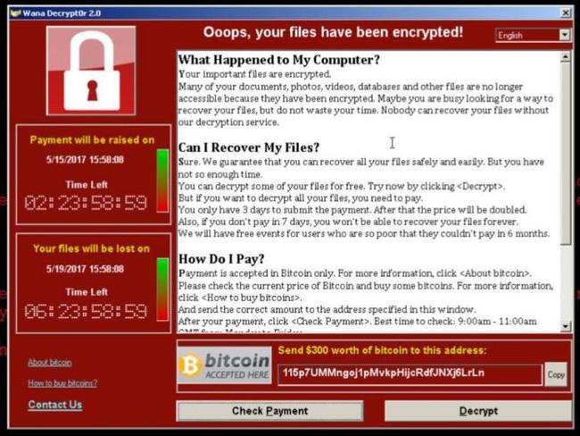 Tìm ra cách vô hiệu hóa virus tống tiền WannaCry đang hoành hành