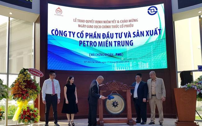 Cổ phiếu PMG của Petro Miền Trung tăng trần ngày chào sàn HOSE