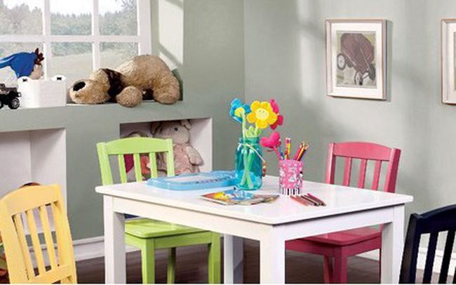 Những mẫu bàn ghế được ưa chuộng cho phòng của bé