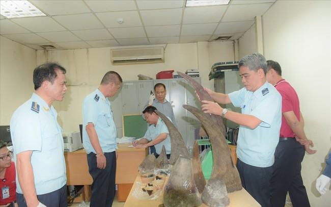 Phát hiện lô hàng khủng toàn sừng tê giác tại sân bay Nội Bài