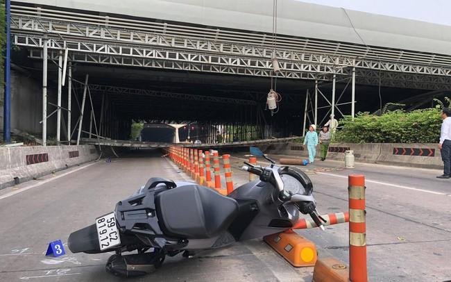 Hiện trường về vụ sập giàn giáo gần nóc hầm Thủ Thiêm, thông tin mới từ Sở Giao thông Vận tải TP.HCM