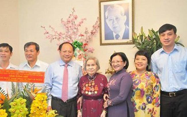 Bà Nguyễn Thị Vân, phu nhân cố Tổng Bí thư Lê Duẩn từ trần