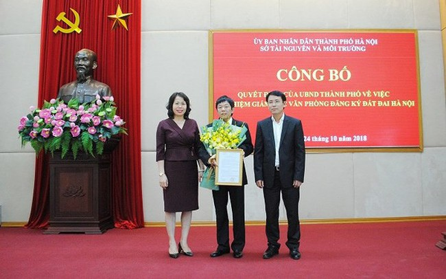 Hà Nội có Giám đốc Văn phòng Đăng ký đất đai mới