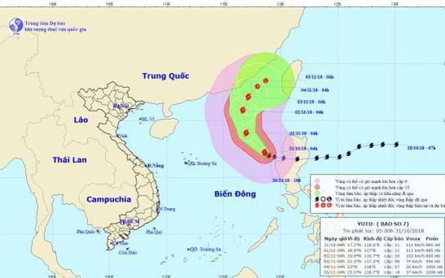 Bão Yutu vào Biển Đông, trở thành bão số 7