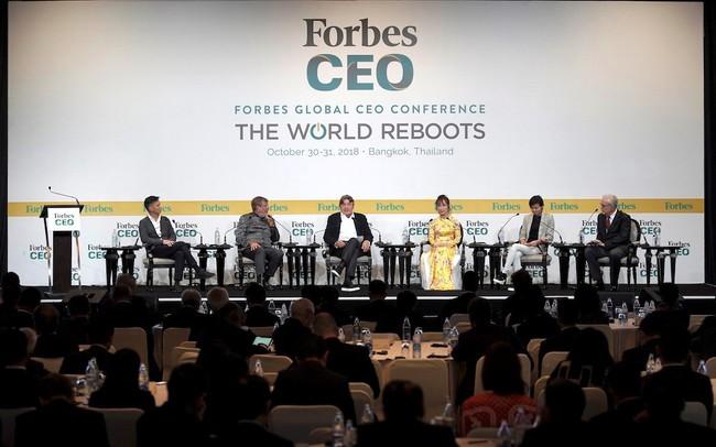 Trên diễn đàn quốc tế, nữ tỷ phú Việt nói gì với 400 CEO và nhà lãnh đạo toàn cầu?