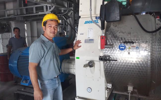 Hùng Vương vận hành nhà máy thức ăn công suất hơn nửa triệu tấn chỉ cần 6 công nhân mỗi ca