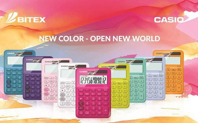 """Kế toán, kinh doanh """"phát sốt"""" với máy tính Casio sắc màu"""