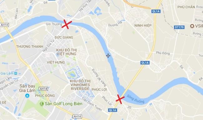 Hà Nội xây tuyến đường dài 5,4km từ cầu Đuống đến cầu Phù Đổng