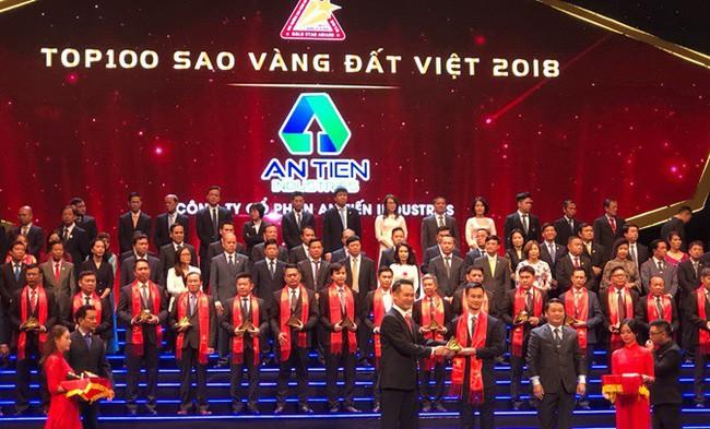Công ty An Tiến Industries (HII) vinh dự lần đầu tiên nhận giải thưởng Sao Vàng đất Việt năm 2018