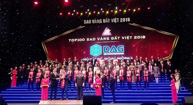 DAG nhận giải thưởng Sao Vàng đất Việt 2018