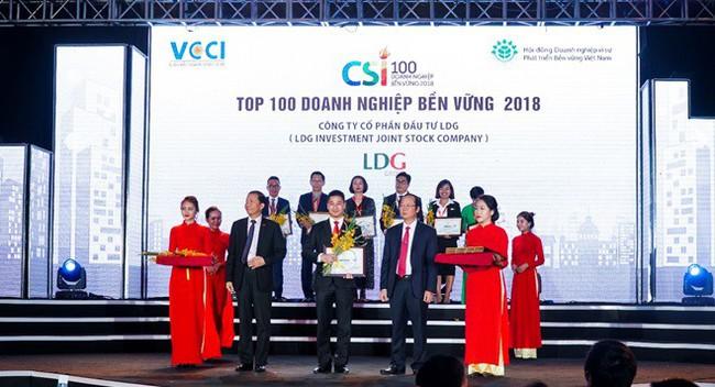 LDG Group được vinh danh là doanh nghiệp bền vững 2018