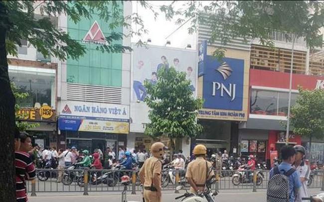 Xảy ra cướp ở một chi nhánh ngân hàng tại Tp. Hồ Chí Minh