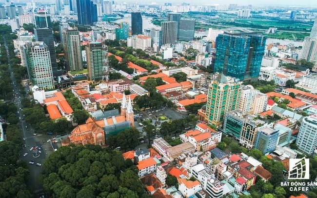 Toàn cảnh nhìn từ trên cao khu đất vàng ngay trung tâm Sài Gòn liên quan đến cựu Phó chủ tịch UBND TP.HCM Nguyễn Thành Tài bị bắt
